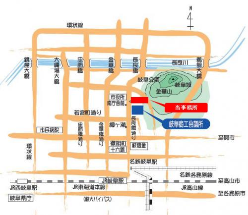 江西事務所アクセスマップ